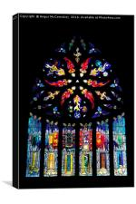 Stained glass window St Michael's Parish Church, Canvas Print