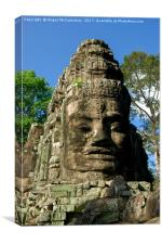 Victory Gate Angkor Thom complex Cambodia, Canvas Print