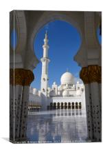 Through arch to Inner Courtyard of Grand Mosque, Canvas Print