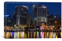 Darling Harbour reflections, Canvas Print