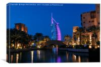Jumeirah Mina A'Salam by night, Canvas Print