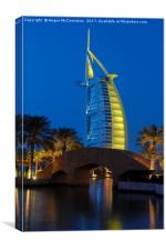 Burj al Arab by night, Canvas Print