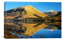 Autumn reflections on Loch Long, Canvas Print