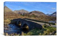 Sligachan Bridge and the Cuillins, Isle of Skye, Canvas Print