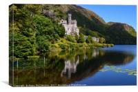 Kylemore Abbey reflections, County Galway, Canvas Print