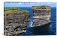 Sea cliffs Downpatrick Head, County Mayo, Ireland, Canvas Print