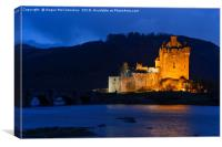 Eilean Donan Castle at twilight, Canvas Print