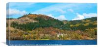 Autumn colours on Loch Achray, Canvas Print