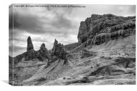 Old Man of Storr mono, Canvas Print