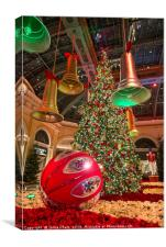 The magical holiday seasonal display in Bellagio, Canvas Print