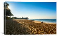 The famous and pristine Big Beach in Maui., Canvas Print