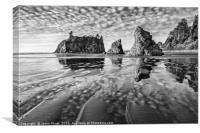 Second Beach in Olympic National Park located in W, Canvas Print