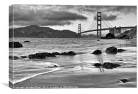 Beautiful view of the Golden Gate bridge from Mars, Canvas Print