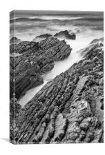 The jagged rocks and cliffs of Montana de Oro Stat, Canvas Print