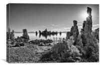 Beautiful view of the strange Tufa Towers of Mono , Canvas Print