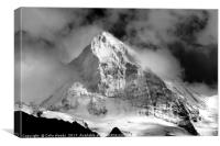 The mighty Dent Blanche in the Valais area of the , Canvas Print