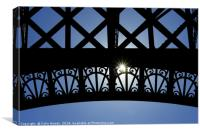 Sunstar and the Eiffel Tower, Canvas Print