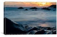 Smooth Woolacombe Waters, Canvas Print