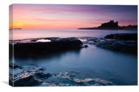 Bamburgh Castle Sunrise, Northumberland, Canvas Print