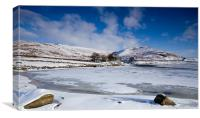 Winter at Embsay, Canvas Print