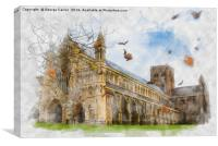 Autumn Abbey , Canvas Print