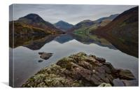 Wast Water Reflections, Canvas Print