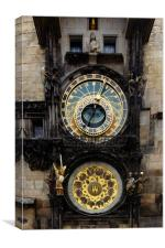 Prague Astronomical Clock, Canvas Print