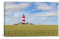 Happisburgh lighthouse on a summers day, Canvas Print