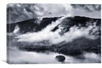 The Lakes in the mist, Canvas Print