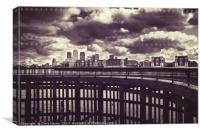 Canary Wharf skyline, Canvas Print