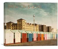 Brighton & Hove - Retro style, Canvas Print