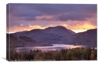Ullswater at sunset, Canvas Print