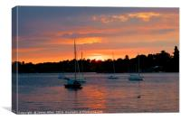 Sunset Over Water, Canvas Print