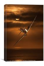 Incoming Spitfire, Canvas Print