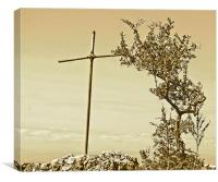 Cross and Thorns, Canvas Print