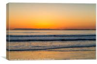 The colours of the sunset, Canvas Print