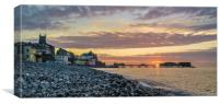 Cromer Sunset, Canvas Print