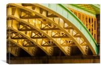 Underneath Southwark Bridge in London, Canvas Print