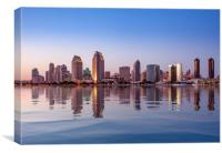 San Diego Skyline at sunset from Coronado, Canvas Print