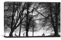 Walking in the park, Canvas Print
