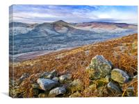A winter morning , Edale, Canvas Print