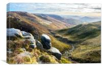 Edale from Kinder, Canvas Print