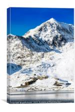 Snowdon in Winter, Canvas Print