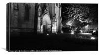 Night Time Cathedral, Canvas Print