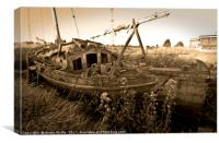 Old Wooden Sailboat , Canvas Print