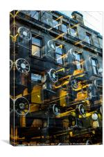 Tenements and Sewing Machines, Canvas Print