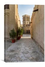 Windtower in old Dubai, Canvas Print