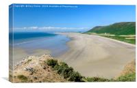 Rhossili Bay , Canvas Print