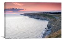 Sunset over Dunraven Bay, south Wales, , Canvas Print