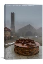 A scale model of old Welsh, Ironworks. Ebbw vale, Canvas Print